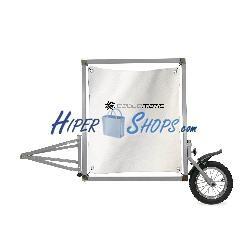 Remolque de bicicleta para publicidad y anuncios