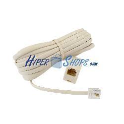 Cable telefónico extensor macho hembra de 4.5m prolongador