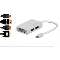 Adaptador mini DisplayPort a HDMI, DVI, DisplayPort