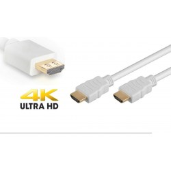Cable HDMI 1.4 goldplated 4K M/M blanco - 15 m