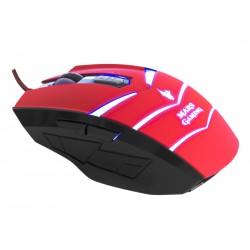 Mars Gaming MMVU1 - Mars Gaming MMVU1 USB Óptico 5000DPI Negro, Rojo ratón