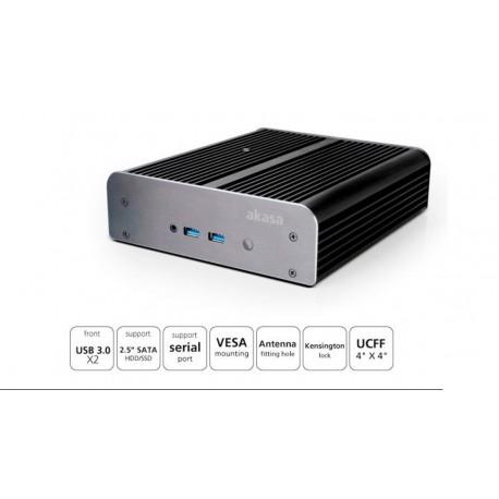 """Caja ITX mini Newton S6T aluminio USB 3.0 IR SSD/HDD 2.5"""" negra"""