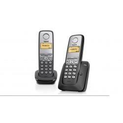 Teléfono inalámbrico Gigaset A230 Duo negro
