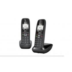 Teléfono inalámbrico Gigaset AS405 LCD negro/gris - DUO
