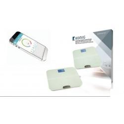 Báscula digital con LCD y Bluetooth blanca - Si
