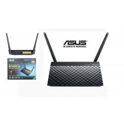 Router AP Wireless ASUS RT-AC51U Dual Band 300, 433Mbps con 2 antenas ext.+1 int.
