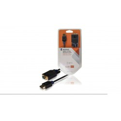 Cable Displayport a VGA M/M 1080P goldplated negro 2m