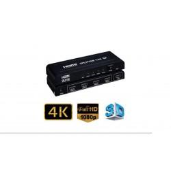 Multiplicador 4 salidas HDMI 4K Full HD 3D