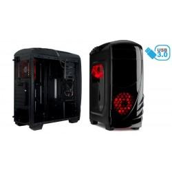 Caja ATX gaming USB 3.0/2.0 lector tarjetas negra