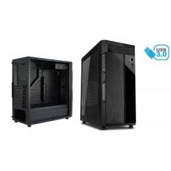 Caja ATX 2xUSB 3.0 frontal metal negra