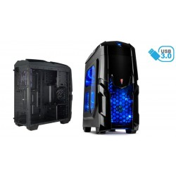 Caja ATX gaming iluminator 2xUSB 3.0 2xUSB 2.0 con lector de tarjetas - Azul