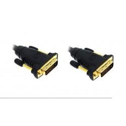 Cable de monitor DVI-D M/M Gold plated dual 1080P - 25 m