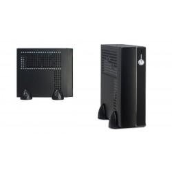 Caja mini-ITX USB 2.0 x2 con fuente 60W negra