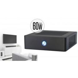 Caja ITX con fuente de 60W negra