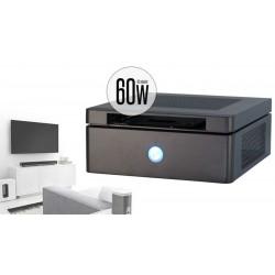 """Caja ITX con 5.25"""" slim externa y fuente 60W negra"""