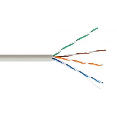 Bobina de cable UTP Cat.5E AWG24 rígido 305m. - Rojo