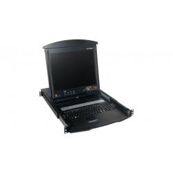 """Conmutador KVM con LCD 17"""" plegable, 16 puertos"""