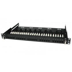 """Panel KRONE de 19"""" para telefonía con 25 puertos PCB"""