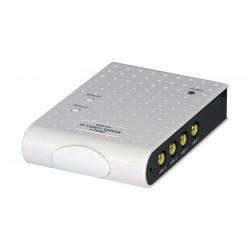 Servidor IP de Audio y Vídeo 4 puertos de entrada
