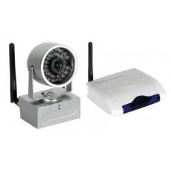Kit de 4 cámaras y receptor Wireless 2.4GHz con IR 380TVL