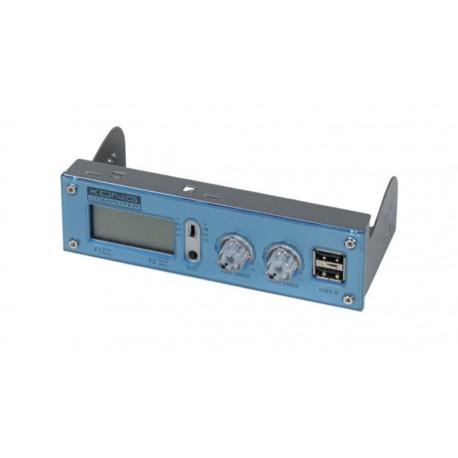 """Panel frontal 5,25"""" controladora ventiladores + 2p USB 2.0 LCD"""