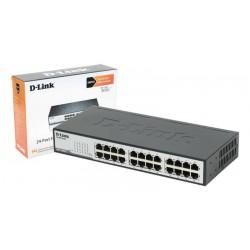 """Switch D-Link 24 puertos 10/100 Mbps para oficina/rack 19"""""""