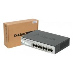 Switch 8 puertos PoE D-Link Web Smart 10/100 Mbps con gestión