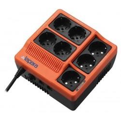 Regleta protectora, 7x Schuko, protección teléfono y modem