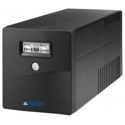 SAI Lapara 1000VA / 600W, in-LINE, 2x Schuko, 2x IEC, USB, RJ11, LCD