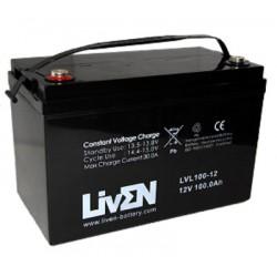 Batería AGM de 12V y 100Ah LivEN
