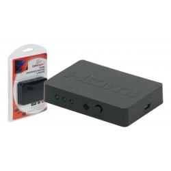 Mini Conmutador HDMI 3/5 puertos con soporte 3D negro