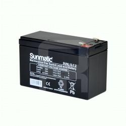 Batería AGM de 12V y 7.2Ah Sunmatic