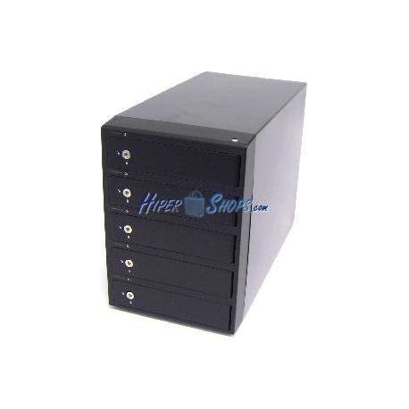 Caja Externa PRO SSI SATA-HDD a eSATA+USB3 (5xHDD/Aluminio/Negro)