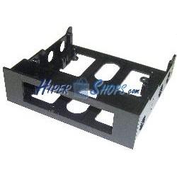 Adaptador 3.5 a 5.25 Frontal Abierto Negro