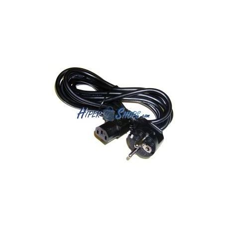 Cable Alimentación IEC-60320 1,8 m (C13-Acodado / SCHUKO-M)