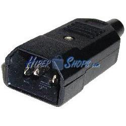 Clavija IEC-60320 C14 (Recto Macho Negro)