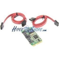 Adaptador Mini PCIe a 2 puerto SATA2