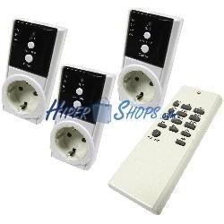 Enchufe por control remoto con temporizador (kit 3 enchufe y 1 mando)