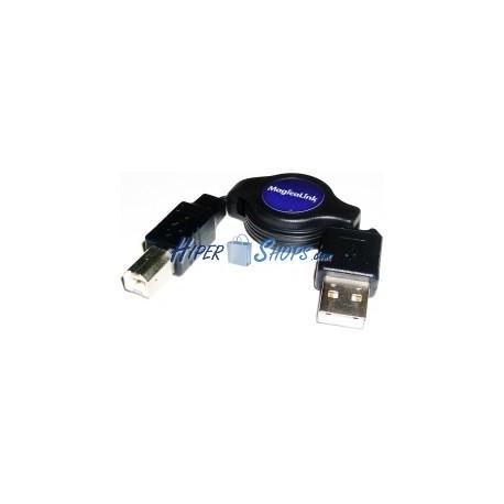 Cable USB retráctil de 120 cm (AM/BM)