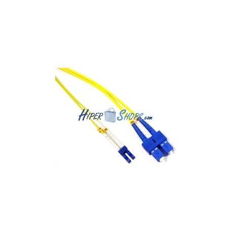 Cable de fibra óptica LC a SC monomodo duplex 9/125 de 3 m