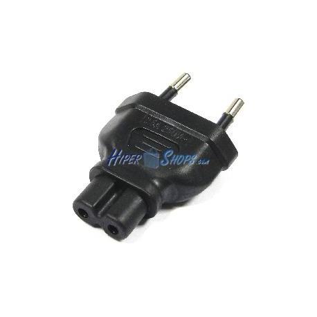Adaptador de conector IEC-60320 C7 a Bipolar