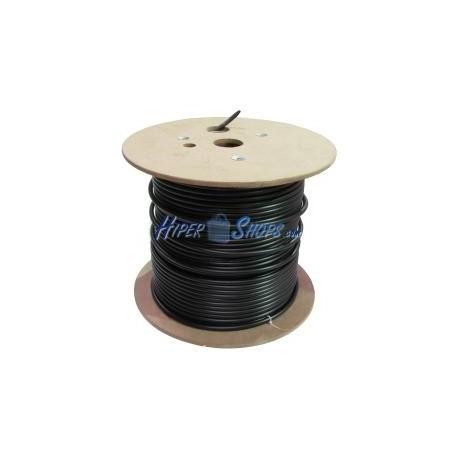 Bobina de fibra óptica 9/125 monomodo 8 fibras exterior de 300 m