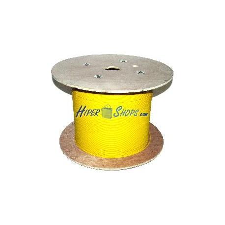 Bobina de fibra óptica 9/125 monomodo 3.0 mm simplex de 500 m