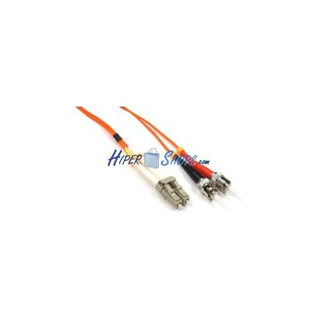 Cable de fibra óptica LC a ST multimodo duplex 62.5/125 de 25 m