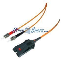 Cable de fibra óptica FDDI a ST multimodo duplex 62.5/125 de 1 m