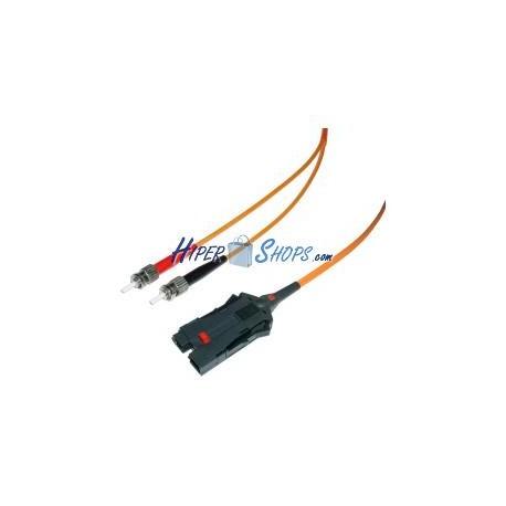 Cable de fibra óptica FDDI a ST multimodo duplex 62.5/125 de 5 m