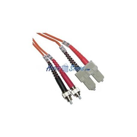 Cable de fibra óptica FC a SC multimodo duplex 62.5/125 de 1 m