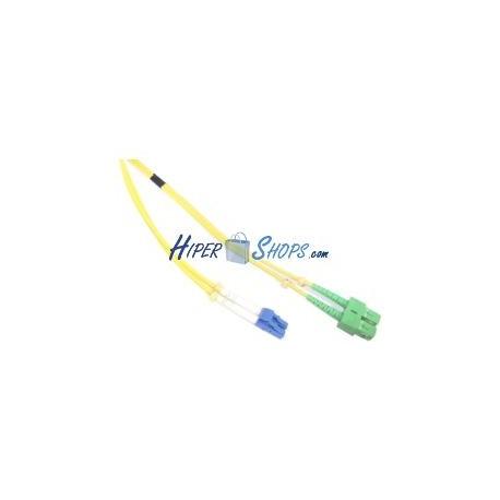 Cable de fibra óptica LC/PC a SC/APC monomodo duplex 9/125 de 10 m