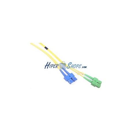 Cable de fibra óptica SC/PC a SC/APC monomodo duplex 9/125 de 3 m