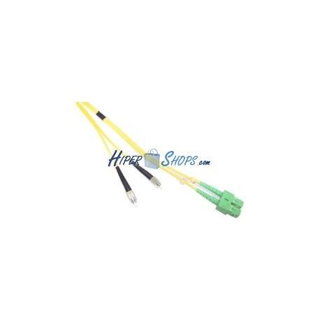 Cable de fibra óptica FC/PC a SC/APC monomodo duplex 9/125 de 5 m